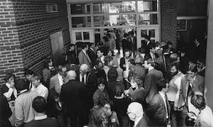 The Barclay Law Library was dedicated in 1985.