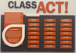 Class Act Giving Wall