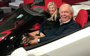 Maggie and Gunther Buerman at the Newport Car Museum.