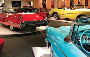 The Newport Car Museum features approximately 85 cars representing six decades of automobile innovation.