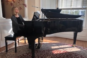 """Susan K. Reardon L'76 continues to play piano at home """"almost daily."""""""