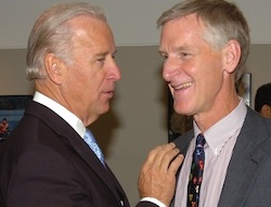 47th VP Joseph R. Biden L'68 and Professor Emeritus William C. Banks