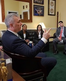John Katko meets with DCEx students in January 2019.