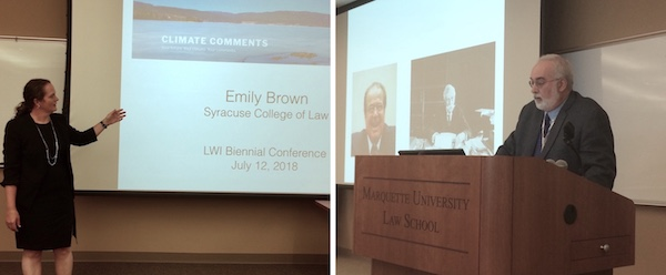 Emily Brown L'09 and Ian Gallacher present at LWI Conference.