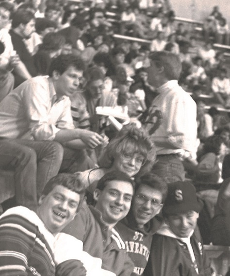 Students at the Carrier Dome