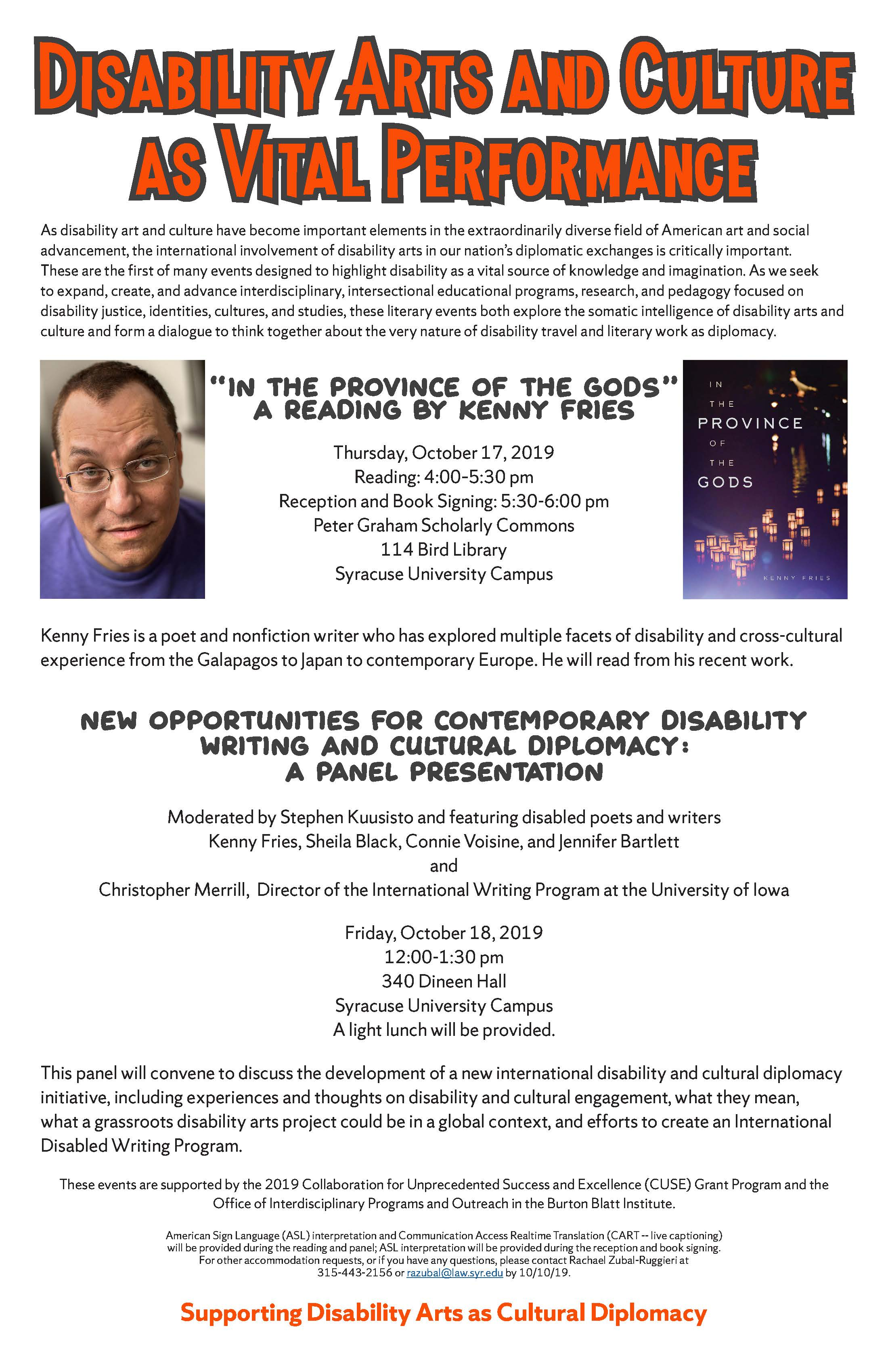 """""""Disability Arts and Culture as Vital Performance"""""""