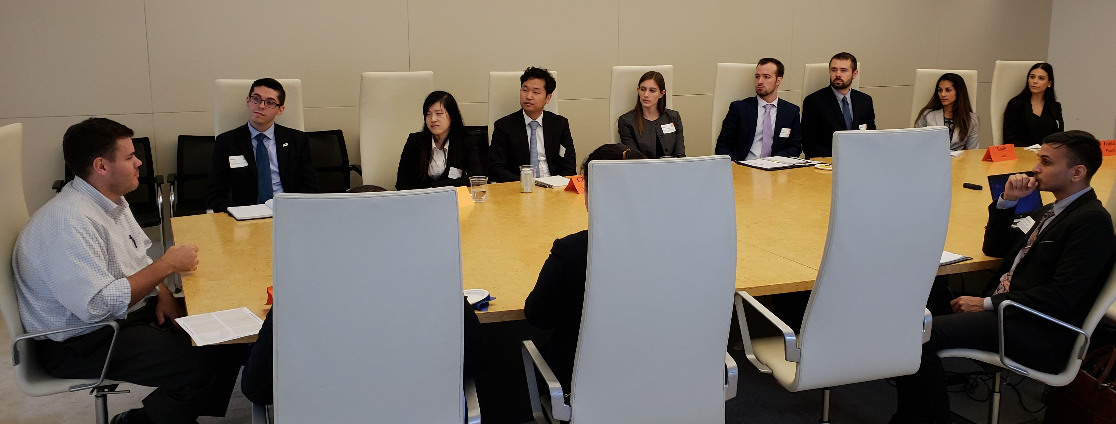 DC extern students hear from Brad Jorgensen L'06, a Partner with DLA Piper