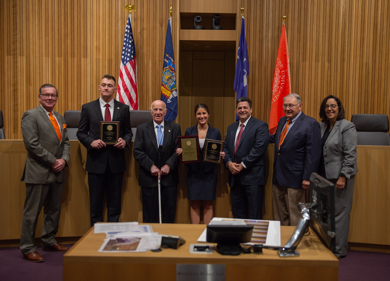 Winners, judges, and evaluators of the 41st Grossman Trial Competition.