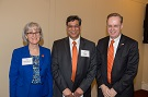 Provost Michele G. Wheatly, Professor Sanjay Chhablani, and Chancellor Kent Syverud