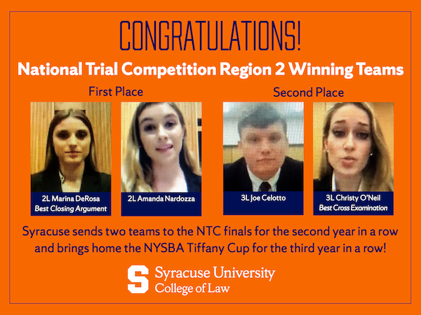 National Trial Competition Region 2 Winners