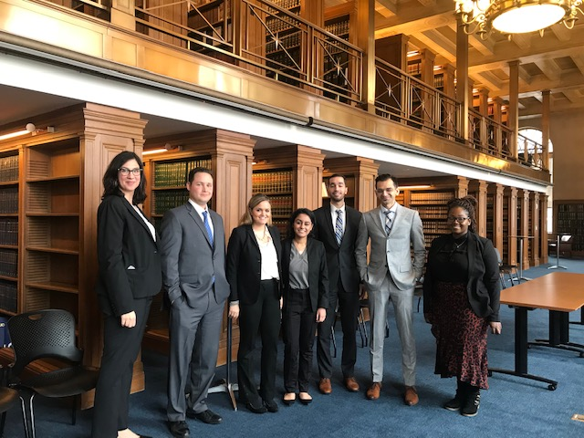 NYCEx students at the Thurgood Marshall United States Courthouse library