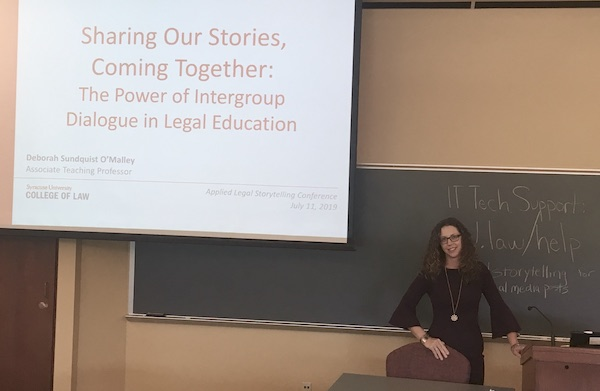 Deborah O'Malley presents at the Seventh Applied Legal Storytelling Conference.