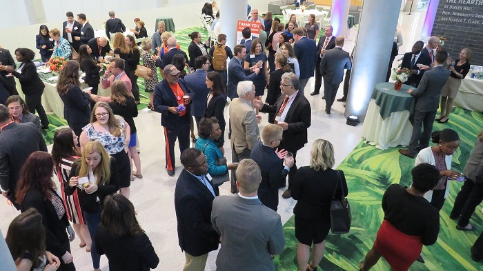 The Student and Alumni Networking Reception is a popular event where students make connections that could last a lifetime.