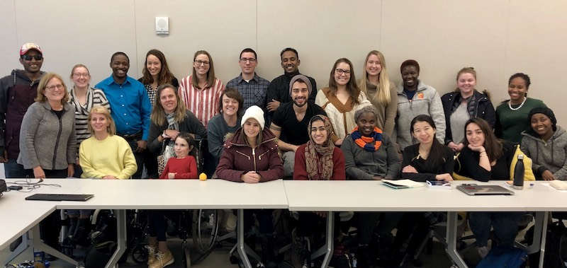 International and Comparative Disability Law Class, November 2018.