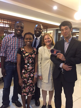 Professor Arlene Kanter with LL.M. alumni in Kenya in 2017.